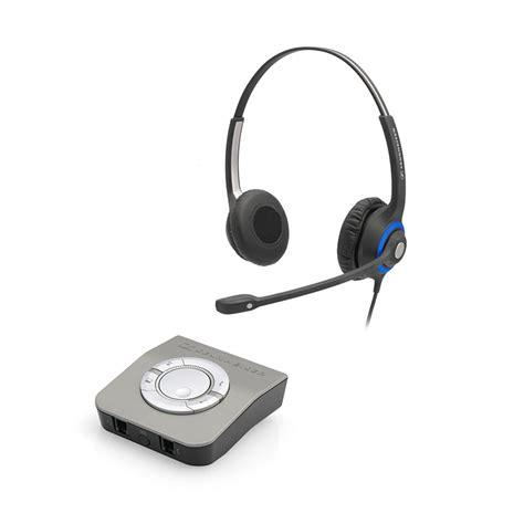 Headset Telepon deskmate dual ear universal office phone bundle