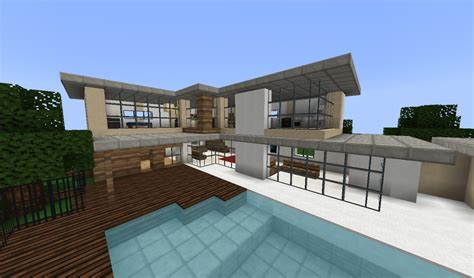 Modern Mansion Beach House Architecture by Fancy Modern House Minecraft Project