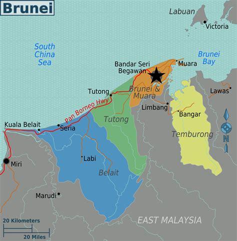 brunei map file brunei regions map png