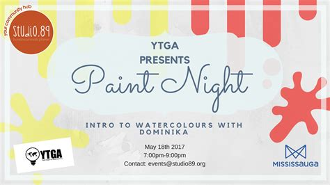 paint nite ontario ytga paint intro to watercolours with dominika