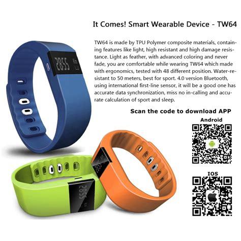 Smartwatch Tw64 tw64 smart bracelet reminder sleep calorie tracker wristband for iphone 6 ebay