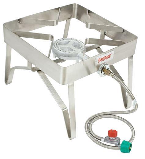 bayou classic stainless steel single burner patio stove