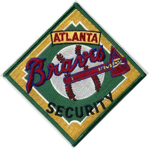 Embroidered Patch atlanta braves security embroidered patch