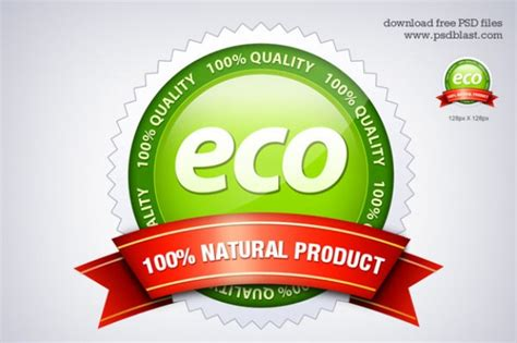 Eco Friendly Seal Icon Psd Psd File Free Download Eco Vectors Photos And Psd Files Free