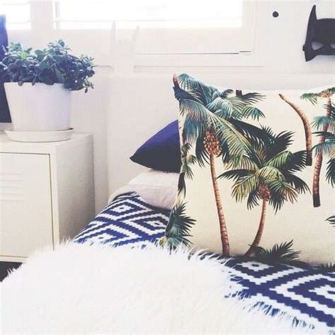 palm tree decor for bedroom pajamas bedding palm tree print slepp pillow home