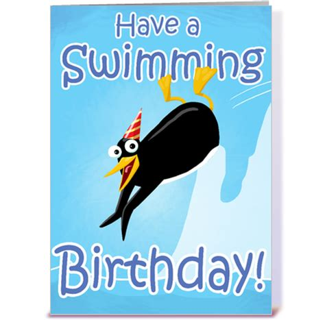 Birthday Card Swimming