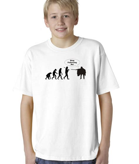shirts for toddlers boys childrens evolution of stop following me