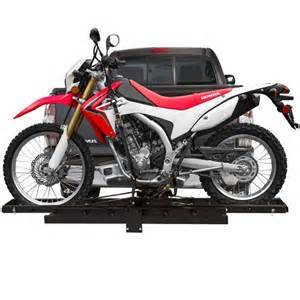 black widow economy hitch mounted motorcycle carrier