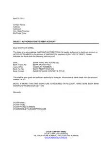 Authorization Letter For Bank Account Opening Authorization To Debit Account Template Amp Sample Form