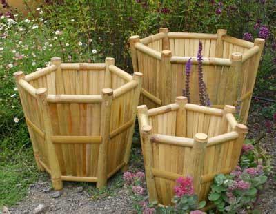 Pot Anggrek Dari Kayu 1 Set pot bambu yang menyatu dengan alam grid id
