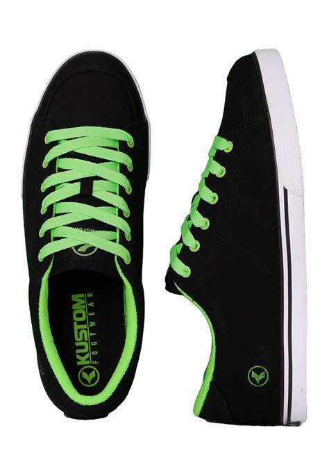 green and black shoes kustom kramer black green shoes impericon