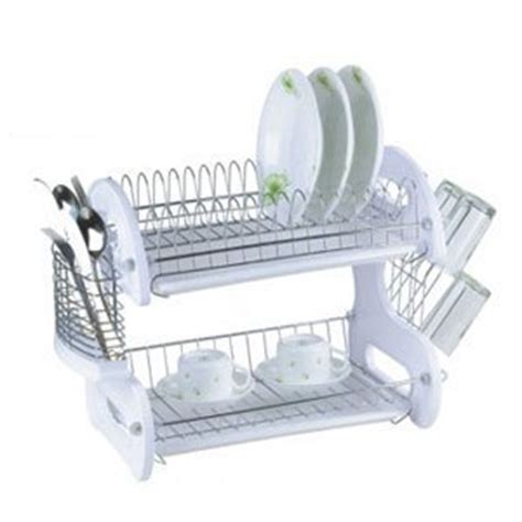 Two Tiered Dish Rack by Hds Trading Dd10246 Dish Drainer 2 Tier