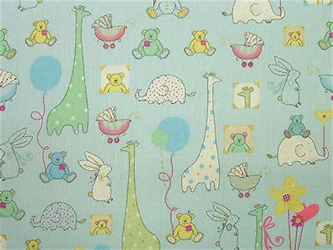 nursery curtain fabric uk babytime blue designer cotton nursery curtain soft