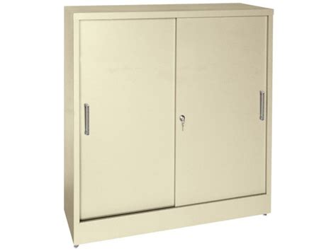 counter height sliding storage cabinet 36 quot x18 quot x42 quot h metal