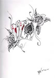 cards tattoo drawing
