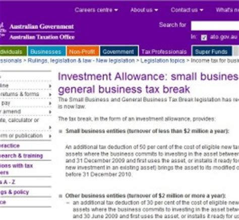 Small Home Business Tax Information Ato Gov Au Small Business Tax Information