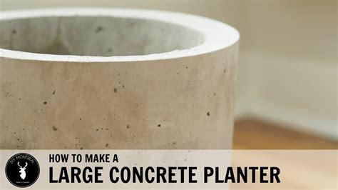 large concrete planter youtube