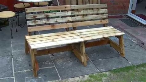 Garden Bench With Trellis by The Great Ideas Of The Reclaimed Wood Furniture