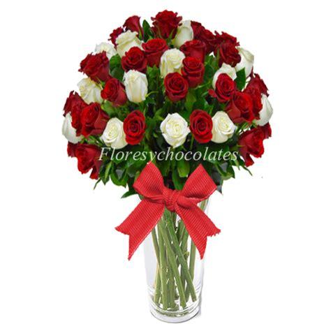 floreros santiago florero de rosas blancas y rojas flores y chocolates
