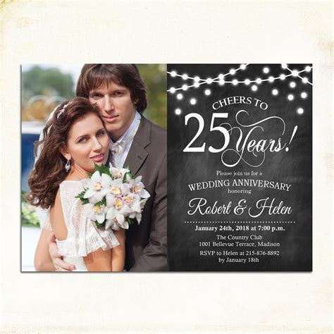 21  Wedding Anniversary Invitation Designs and Examples
