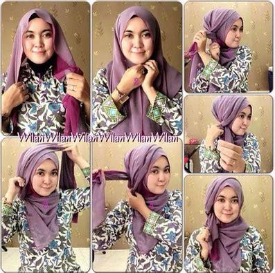 tutorial segi empat monocrom foto tutorial hijab modern segi empat beragam model dan gaya