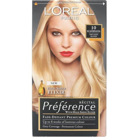 hair color preference l oreal recital preference 10 scandinavia lightest