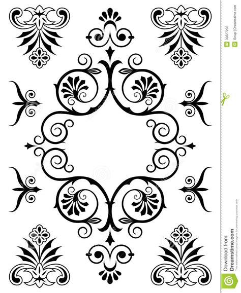 design pattern elements ornament design elements stock vector image of ornament