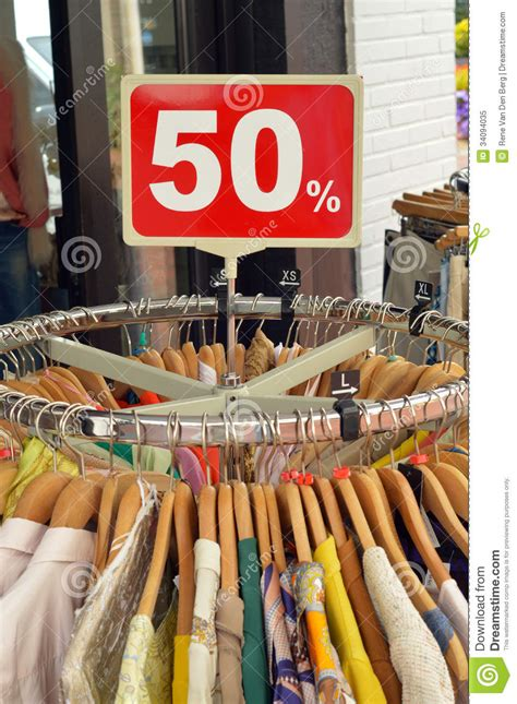 Discount Rack by Fashion Outlet Royalty Free Stock Photo Image 34094035