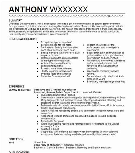 Detective Resume by Criminal Investigator Resume Www Sanitizeuv Sle