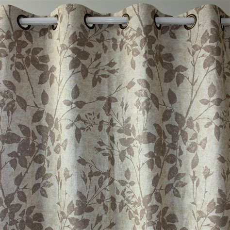 linen window curtains 癡迅ezo home brown leaves linen linen finished window
