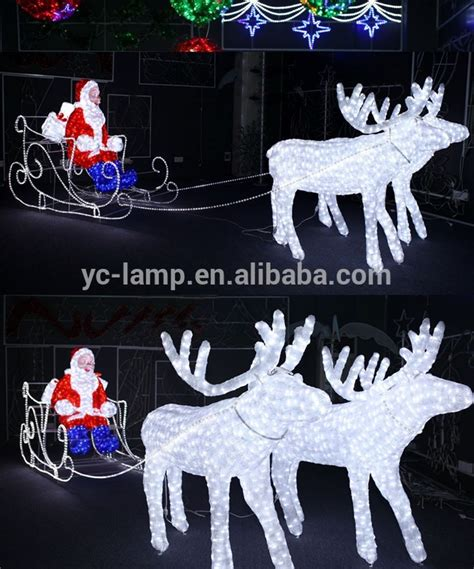 phillips lighted reindeer and sleigh outdoor white lighted reindeer for led decorations triachnid
