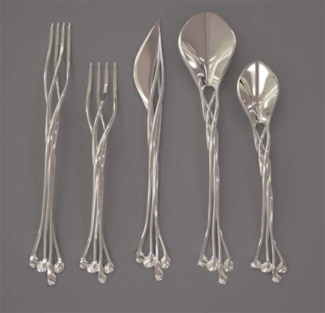cool flatware elvish silverware elvish things pinterest