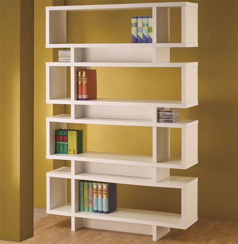 home decorating pictures modern bookshelf - White Modern Bookshelves