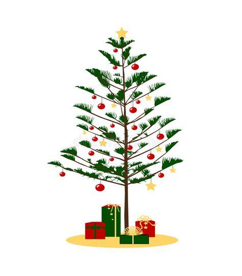 kiefer weihnachtsbaum kiefer weihnachtsbaum stock abbildung illustration