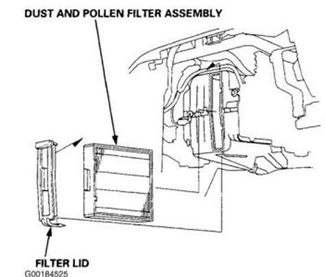 Honda Crv Cabin Filter by 1997 Honda Crv Cabin Air Filter Air Conditioning Problem