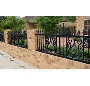 Brick And Iron Fence Designs
