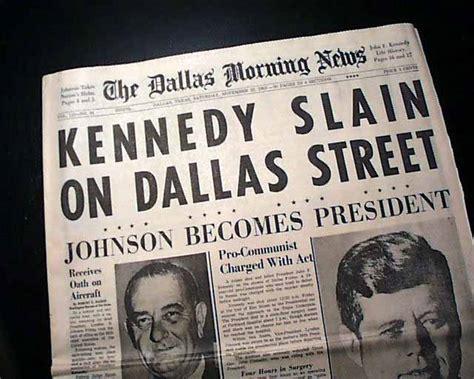 obituary headlines the dallas morning news best 1963 john f kennedy jfk assassination rare dallas tx