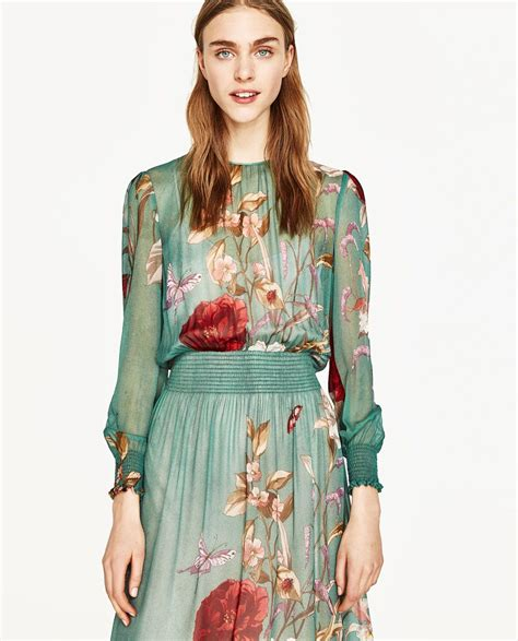 floral print flowing dress dresses zara united