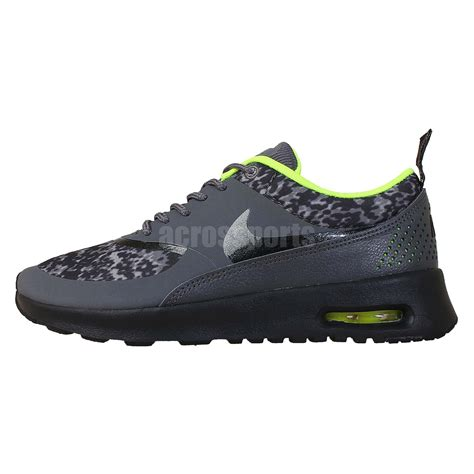 Sepatu Nike Airmax Thea Import Running Casual nike wmns air max thea print grey volt leopard 2014 womens casual running shoes ebay