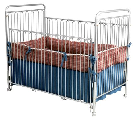 White Iron Cribs by Metal Crib White La Baby Deluxe Metal Crib White