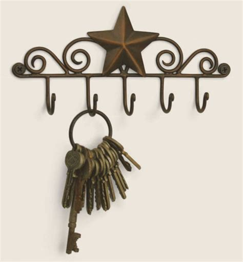 decorative key racks for the home iron metal decorative barn star 5 wall mounted key hanger