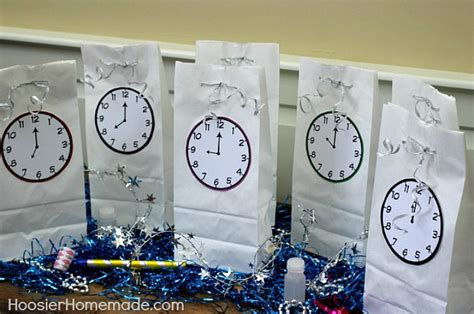 small clocks for craft projects new year s countdown goodie bags hoosier