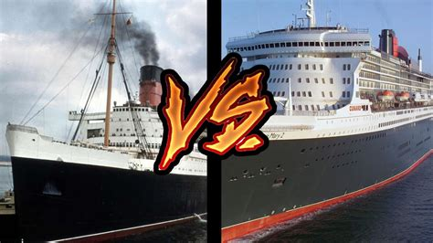 ship queen mary 1 rms queen mary vs queen mary 2 comparison who wins