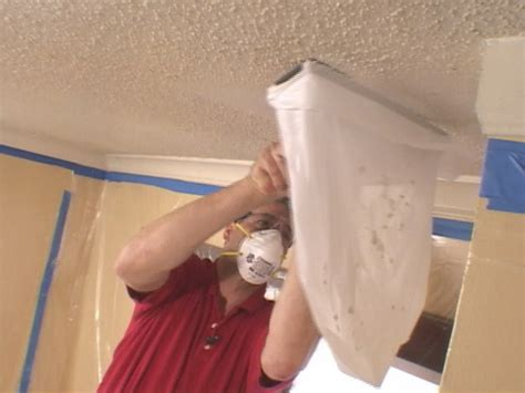 Scraping Painted Popcorn Ceilings by How To Remove A Popcorn Ceiling How Tos Diy