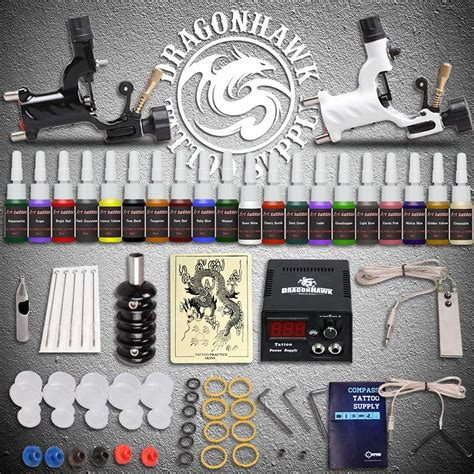 tattoo supplies free shipping beginner starter kits 2 rotary machines guns