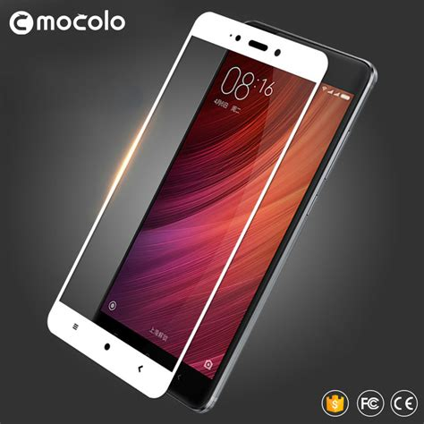Xiaomi Redmi Note 4 Color Tempered Glass 1 mocolo silk printing cover tempered glass protector