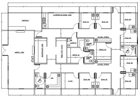 free medical office floor plans wilkins builders modular buildings healthcare and medical