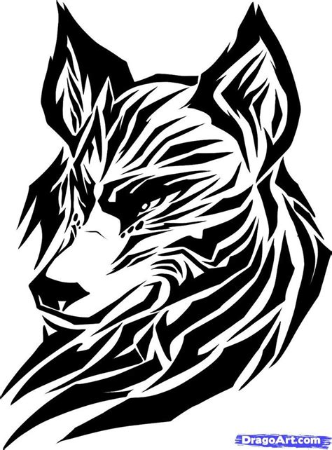 tribal wolf tattoos art draw a tribal wolf tribal wolf step by step drawing
