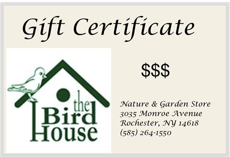 buy gift certificate buy gift certificates the bird house ny