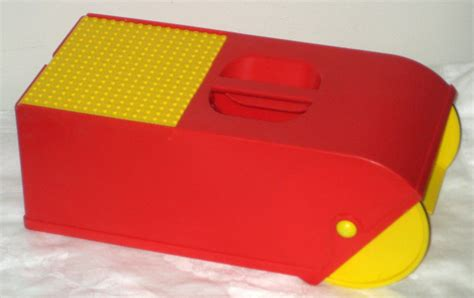 Home Plate Baseball sold lego brick block vacuum red yellow 1991 with base